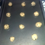 Rosemary Chocolate Chip Cookies on a Baking Tray
