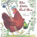 """""""The Little Red Hen"""" by Galdone book cover"""
