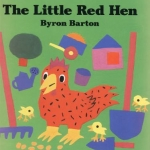 """""""The Little Red Hen"""" by Barton book cover"""