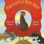 """""""The Little Red Hen"""" by Forest book cover"""