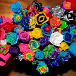 Duct tape flower craft