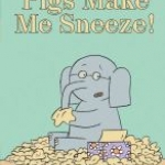 """""""Pigs make me sneeze"""" book cover"""