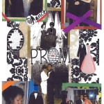 scrapbook page of prom pictures from petworth library staff members