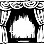Curtain with stage clip art