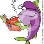 Fish Reading a Book