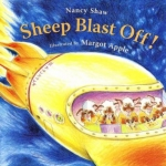 """""""Sheep Blast Off!"""" book cover"""