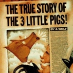 Cover Art of the True Story of the 3 Little Pigs