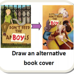 """Draw an alternative book cover"" image"