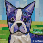 Boston Terrier by Megan Coyle