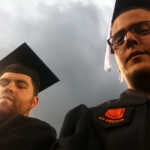 Ian Marsh and Keven Loiselle at graduation