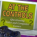 book cover for At the controls : questioning video and computer games by Neil Andersen.