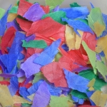 Pieces of craft tissue paper