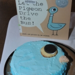 Cake based on the book Don't Let the Pigeon Drive the Bus!