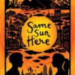 Cover is orange, showing a silhouette of a boy and girl in two different landscapes, facing each other