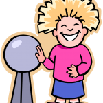 child with static electricity hair