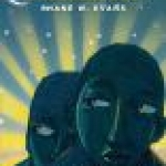 Book covers shows two stylized African-American faces with a rising sun behind them.