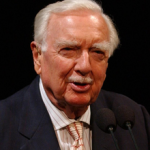 headshot of broadcast journalist Walter Cronkite