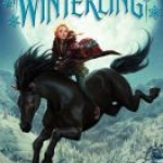 Cover shows a girl on a black horse, in the sky above a snowy landscape