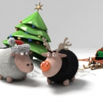 Graphic of Christmas Sheep by ~bsign