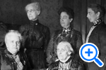 Suffrage pioneers from left to right seated, Anna Howard Shaw, Susan B. Anthony, & Carrie Chapman Catt, Historical Image Collection - SELECT to zoom